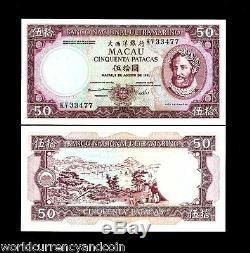 Macao Portugal Chine 50 Patacas 60a 1981 Navire Presidente Unc Macau Devise Note