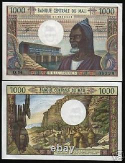 Mali 1000 Francs P13e 1970 France Montagne Unc Monnaie Papermoney Bill Billet De Banque
