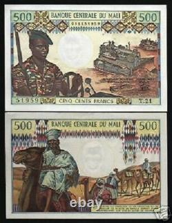 Mali 500 Francs P12e 1973 Camel Rifle Tractor Unc Currency Money Bill Bank Note