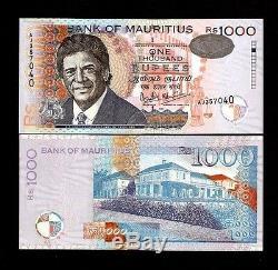 Maurice 1000 Roupies 54 2001 Date Duval Unc Rare Monnaie Argent Bill Billets De Banque