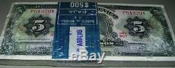 Mexique 5 Pesos Stack Banknote Billets Monnaie 1969 Bundle Non Distribuée