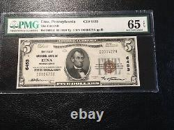 Monnaie Nationale Etna Pa Pmg 65 Unc. Epq Wow Est Ce Joli Blanc Original
