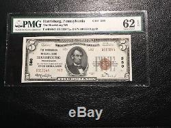 Monnaie Nationale Harrisburg Pa Pmg62 Unc. Epq Blanc! Type 2
