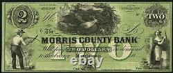 Monnaie Obsolète Morristown, Nj- Morris County Bank $2 18 Reste Unc