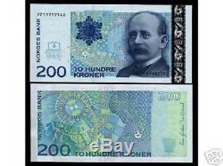 Norvège 200 Kroner 2003 P50 Carte De North Pole Unc Monnaie Argent Bill Billets De Banque