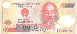 Nouveau Vietnam Mint 5 X 200000 = 1 Million De Dong Polymère Vietnames Currency-unc