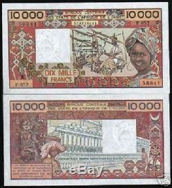 Ouest Etats Africains Sénégal 10000 Francs P709 K Figurine Unc Monnaie Argent Bill