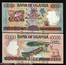Ouganda 10000 Shillings P38a 1995 Musique Dam Antelope Unc Monnaie Argent Bill Note