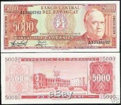 Paraguay 5000 Guaranis P208 1982 Lion Lopez Palais Unc Monnaie Latino Argent