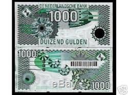 Pays-bas 1000 Gulden P102 1994 Monnaie Euro Unc Rare Dutch Argent Bill Note