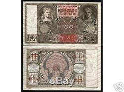 Pays-bas 100 Gulden P51c 1944 Euro Rare Unc Billet De Devise