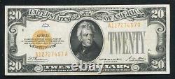Père. 2402 1928 20 $ Certificat D'or De 20 Dollars Note De Devise À Propos De Unc (b)