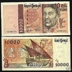 Portugal 10000 Escudos P191c 1998 Henrique Navire Euro Unc Monnaie Argent Billnote