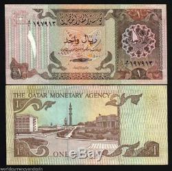 Qatar 1 Riyal P7 1980 Bateau Falcon Unc Gcc Golfe Billet De L'argent Des Billets De Banque