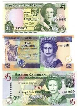 Queen Elizabeth Ii, 20 Pieces Banknote Album Set, Unc Currency / Pièces De Monnaie