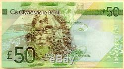 Réel 2009 Clydesdale Bank £ 50 Pound Cinquante Unc De L'argent Monnaie Des Billets Écossais