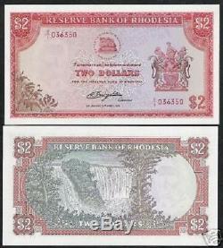 Rhodésie 2 Dollars P31c 1979 Rhodes Remplacement De La Marque De L'eau Rhodes Billet De Banque