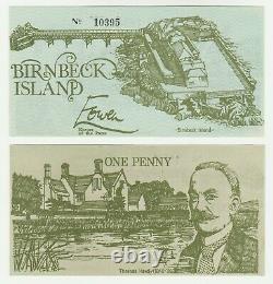 Royaume-uni Grande-bretagne Birnbeck Island 1d 1 Penny 1970s Unc Local Currency Banknote