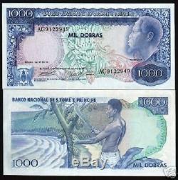 Saint Thomas Et Prince 1000 Dobras P55 1977 Fruit Unc Monnaie Argent Portugal Note