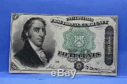 Série 1801 Cinquante Cents Fractional Currency Choice Uncirculated