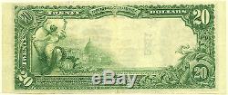 Série 1902 Monnaie Nationale La Première Banque Nationale Du Nouveau Paris Ohio 20 $ Unc