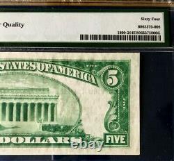 Série 1929 $5 Pmg64 Epq Choice Unc Nat Devise Citoyens Nb Evansville Ty2 3386