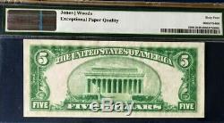 Série 1929 $ 5 Pmg64 Epq Choix Unc Nat Monnaie Citizens Nb Evansville Ty2
