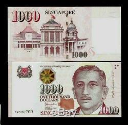 Singapour 1000 1000 Dollars P51 Étoiles Ou Unc Maison Devise Argent Nouvelle Note De La Banque