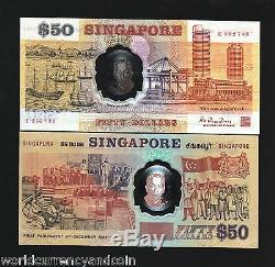Singapour 50 Dollars P31 1990 Monnaie Commémorative Polymer Unc Money Bank Note