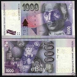 Slovaquie 1000 Koruna P47 2005 Avant Euro Madonna Unc Rare Bill Monnaie Mondiale
