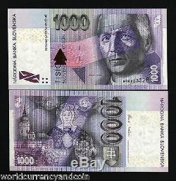 Slovaquie 1000 Koruna P47 2007 Pre Euro Madonna Unc Dernier Bill Mondial De Change Note