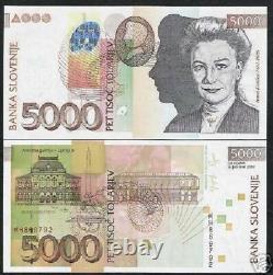 Slovénie 5000 Tolarjev Nouveau 2004 Euro National Gallery Unc Currency Money Note