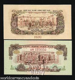 Sud Vietnam 10 Xu P37 1966 Spécimen Usine Unc Monnaie Argent Bill Banknote