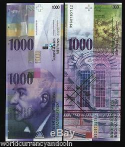 Suisse 1000 Francs 1000 P74 1999 Panthéon Unc Rome Monnaie Argent Banknote