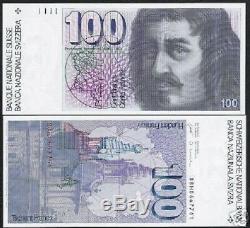 Suisse 100 Francs P57 1988 Dessin Unc Suisse Monnaie Argent Bill Billets De Banque