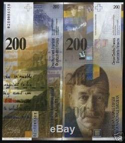 Suisse 200 Francs P73 Billet De Banque 2006