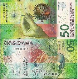 Suisse Billet De 50 Francs Monnaie Mondiale Papier Billet Unc 2016 Bill Note