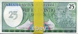 Suriname 25 Gulden Banknote World Paper Money Devise P127b Bundle (100 Notes)