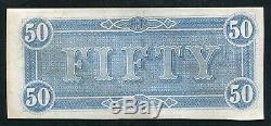 T-66 1864 50 $ Cinquante Dollars Csa États Confédérés D'amérique Monnaie Remarque Unc