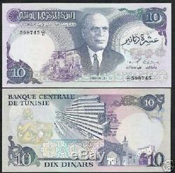 Tunisie 10 Dinars P80 1983 Raffinerie De Pétrole Habib Unc Grande Taille Monnaie Argent Remarque