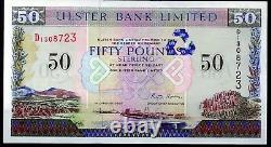 Ulster Bank Ltd Belfast 50 Livres Sterling Billets 1997 Monnaie Locale Réelle