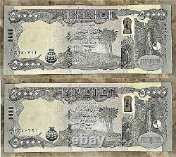Unc 100.000 Dinar Deux Nouveaux Billets Irakiens 2015 Iqd Monnaie Vérifiée