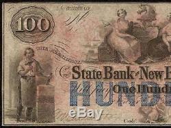 Unc 1800s Billette En Dollars De 100 $ Argent Du Papier De Banques Du Banque Du Nouveau-brunswick