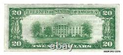 Unc 1929 T1 20 $ Monnaie Nationale Natl. Bank & Trust Co. Spring City Pa. Ch#2018