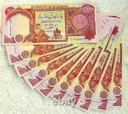 Unc 1/4 Million 10 X 25000 Nouveau 2003 Iraq Dinar Billets De Banque 250000 Iqd Monnaie