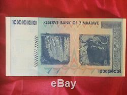 Unc Zimbabwe Billet De 100 Milliards De Dollars 2008 / Aa Billet De Monnaie Réelle Très Rare