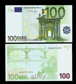 Union Européenne 100 Euro P-18 Prefix V Espagne Draghi 2002 Unc Ue Monnaie X 1 Note