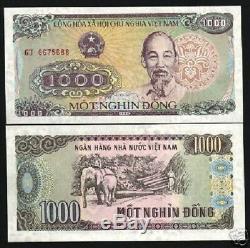 Vietnam 1000 Dong P106 1988 Elephant Lot Unc Bundle 1000 Pcs Monnaie De Billets De Banque