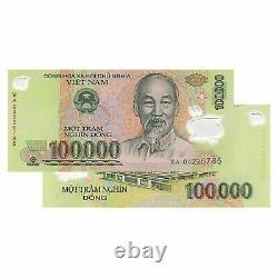 Vietnam 100 000 X 10 Pièces (pcs) = 1 Million De Dong Monnaie Vnd Uncirculated Unc