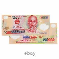 Vietnam 200.000 X 5 Pièces (pcs)= 1 Million De Monnaie Dong Vnd Uncirculated Unc